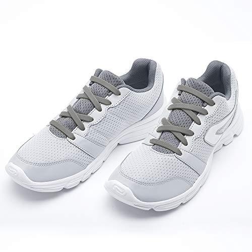 RJ-Sport Elastische Silikon Schnürsenkel Flach für Kinder und Erwachsene - Schleifenloser Schnürbänder Ersatz (003Grau)