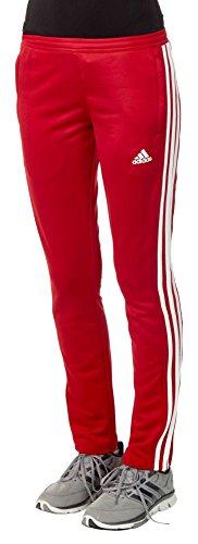 adidas - Pantaloni Sportivi T16, Donna, T16 Team, Rosso/Bianco, M