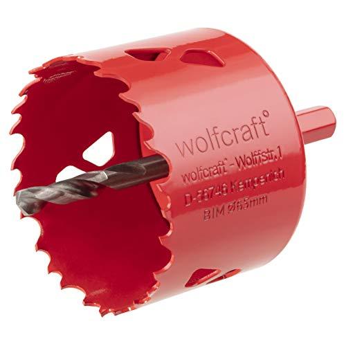 Wolfcraft 5473000 Lochsäge BiM komplett mit Sechskant-Schaft und Bohrer Ø 65, rot, ø 65 mm