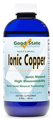 Good State Liquid Ionic Copper (96 servings at 2mg elemental, plus 2 mg fulvic acid - 8 fl oz)