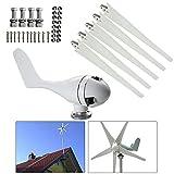 Generador eléctrico de turbina de viento, controlador de carga de molino de viento horizontal, generador de viento híbrido de 5 aspas de rotor, 400 W 24 V