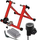 Ecovelò Rodillo Ffitness para Bicicleta Rojo Turbo Entrenamiento Indoor Plegable Resistencia magnética con Soporte y Cierre de liberación rápida | Ahorra Espacio, 24', 25', 26', 27', 28', 29', 700C