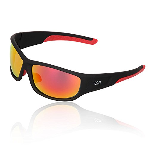 O2O Top Polarized Sports Sunglasses Tr90 Square Frame for Men Women Teens Cycling Driving Golf Fishing Running