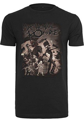 MERCHCODE My Chemical Romance T-Shirt pour Homme avec imprimé Bande dessinée Noir 3XL Noir