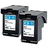 SXCD Cartucho de tinta 662XL, repuesto para impresoras HP Deskjet Ink Advantage 1015 1515 2515 2545 2645 3515 3545 compatible con negro y tricolor negro y negro