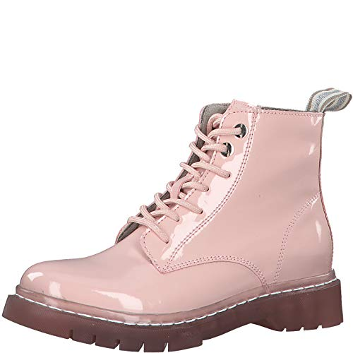 Tamaris Damen Stiefel 25206-34, Frauen Schnürstiefel, lose Einlage, Freizeit Boots Combat schnürung weibliche Lady Ladies Women,Rose,40 EU / 6.5 UK
