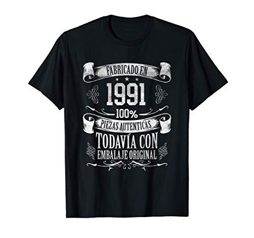 30 Años Cumpleaños Hombre Nacido En 1991 Regalo de 30 Años Camiseta
