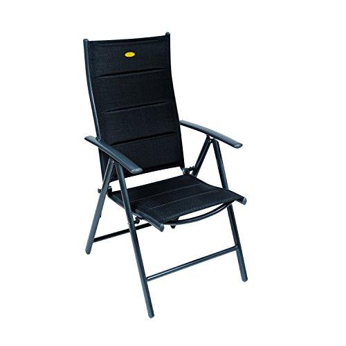 Camp 4 - Silla reclinable con estructura oscura modelo Ischia Mega