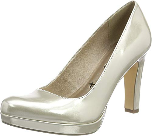 Tamaris Damen 22426 Plateaupumps, gold, 40 EU