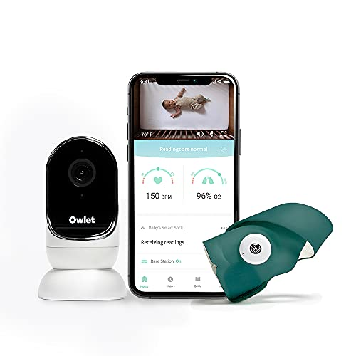 Owlet Duo — Cam and Smart Sock 3 — Smart Baby Monitor with Camera — Measures Heart Rate and Oxygen— Night Vision and Audio — iOS and Android Compatible — Secure, Encrypted HD Video for Baby Safety