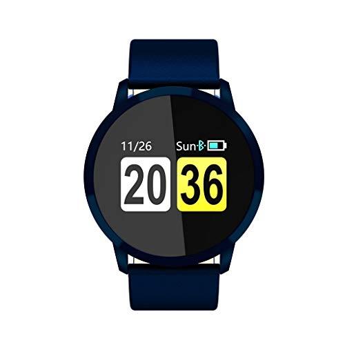 webla reloj inteligente T pantalla color Q8Tensiómetro/oxígeno/Monitor de ritmo cardiaco reloj inteligente, azul
