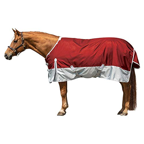Dura-Tech Viking Extreme Horse Turnout Blanket | Heavy Weight - 380 Gram | Size 72 - Brick Red | 1680 Denier | Euro Fit | Criss-Cross Surcingle | Waterproof, Windproof & Breathable