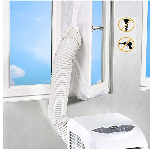 Fensterabdichtung, Klimaanlage Auslass Für Mobile Klimageräte und Abluft-Wäschetrockner, 400CM AirLock Für Fenster, Dachfenster, Kippfenster