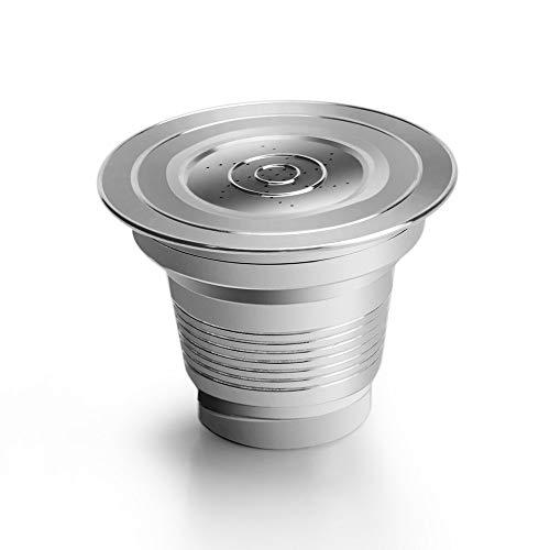 YOBENS NBM Filtro Reutilizable para Nespresso Cap Cápsula Dos Tipo CoffeeFeer Fit for LOR Barista por Philips Machine (Color : Light Yellow)