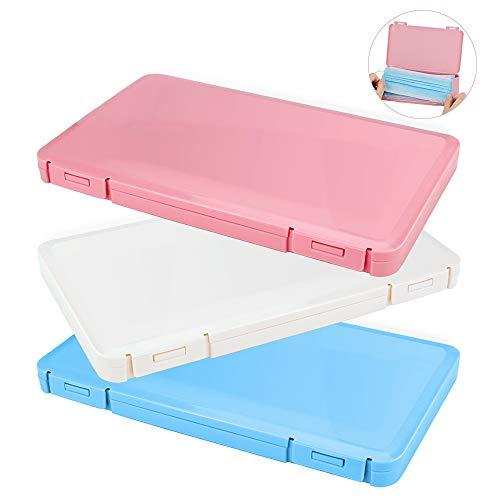 Contenitore per Mascherine Porta Mascherina 3 unità Scatola Maschera Custodia per mascherine Porta Mascherina per Borsa Organizer(Rosso bianco blu)