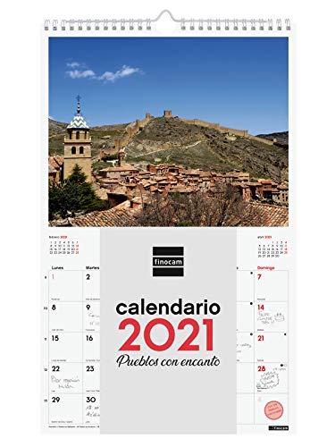 Finocam - Calendario de pared 2021 Escribir Imágenes Espiral 25x40 Pueblos con encanto Español