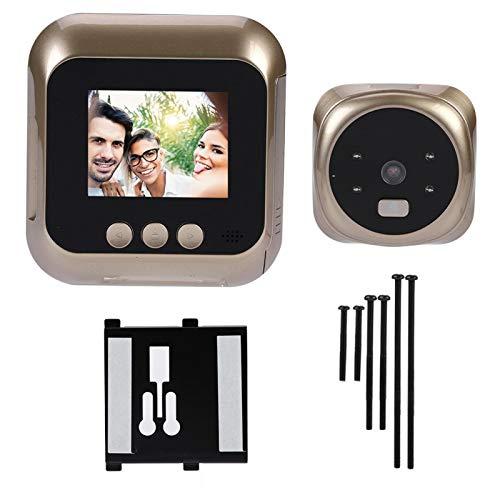 Visor de puerta electrónico, timbre inteligente para el hogar, fácil de usar, seguridad, resistencia a la abrasión, pantalla HD de 2,4 pulgadas, timbre, visor de puerta, cámara, accesorios