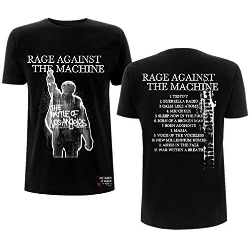 Rage Against The Machine Album Cover Hombre Camiseta Negro M, 100% algodón, Regular