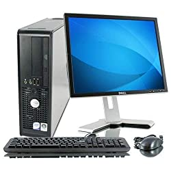(Renewed) Dell Optiplex 380 Desktop (Intel Core 2 Duo E7500 2.93 Ghz, 4 GB RAM/ 320 GB HDD/ Windows 7, MS Office, USB, Ethernet, VGA,Audio, With WIFI, Moniter, Keyboard and Mouse, Black,Dell Computers,Optiplex 380
