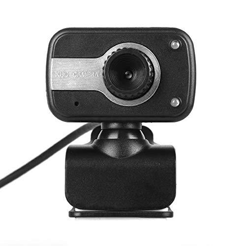 USB 2.0 HD Webcam Integrierte Mikrofon-Webkamera für Win 10 8 7 XP (Silber)