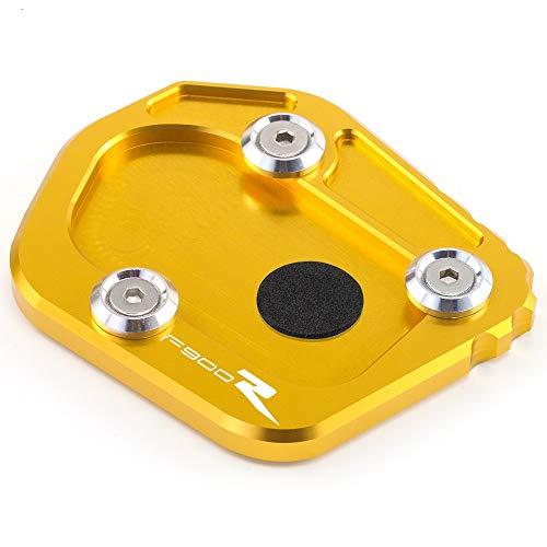 Caballete Lateral Moto Accesorios de Motocicleta Soporte Lateral CNC Ampliación para B-M-W F900R F900 R F 900R 2020 (Color : Gold-A)