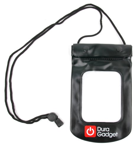 DURAGADGET Black Travel Water-Resistant Neck Pouch - Compatible with The Lenovo K6 Power | K6 Smartphone