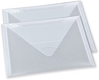 Sizzix, Multi Color, Plastic Envelopes , 2 Pack, One Size, 6.25-Inch by 9-Inch