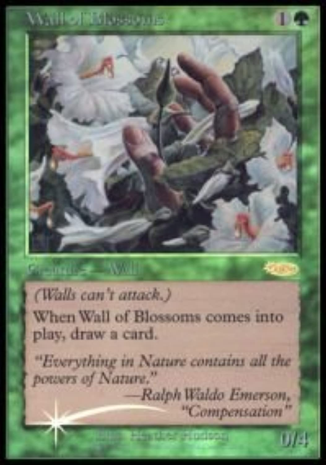 Magic  the Gathering  Wall of Blossoms  FNM 2002  FNM Promos  Foil by Magic  the Gathering