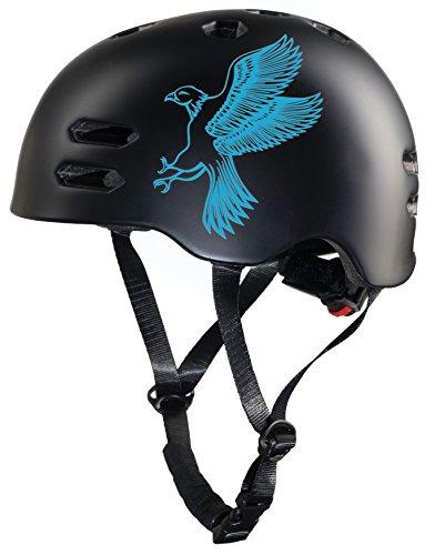 Prometheus Fahrradhelm für Kinder in Größe S 53-55 cm mit Drehring Skaterhelm Kinderfahrradhelm - TÜV Rheinland Zertifiziert (Blau & Schwarz Matt)