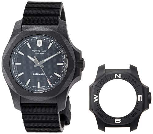 [ビクトリノックス] 腕時計 I.N.O.X. CARBON Mechanical カーボンケース ブラックダイヤル ブラックラバーストラップ(チタン製Dバックル) 241866.1 メンズ 正規輸入品 ブラック