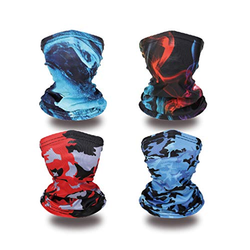 Kids Neck Gaiters Face Cover Balaclava Bandanas Face Covering for Children Summer Neck Gaiter 4PCS Group 1