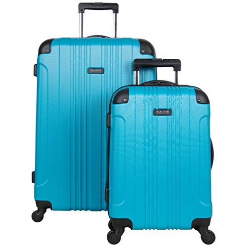 Kenneth Cole Reaction Out Of Bounds 2-Piece Lightweight Hardside 4-Wheel Spinner Luggage Set: 20' Carry-On & 28' Checked Suitcase, Teal