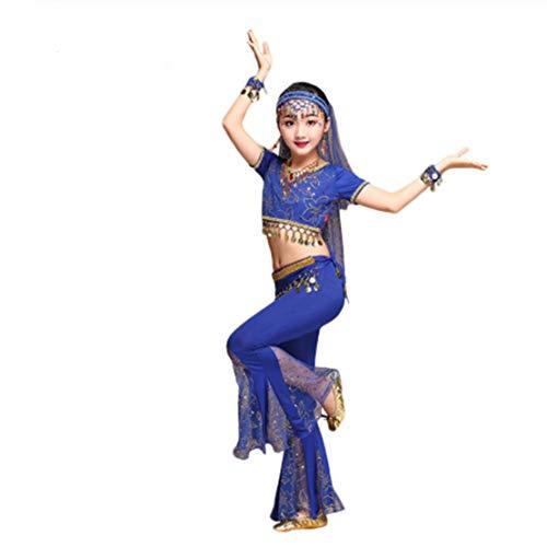 Mama stadt Costume Orientale Danza Ventre Bambina Travestimento Indiana Carnevale Belly Dance Vestito da Ballo Top e Pantaloni Set/XL
