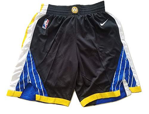 canottejerseyNBA Pantaloncini Golden State Warriors; Shorts da Basket, Jersey Maglia Canotta (Nero City Edition The Town '18, L)