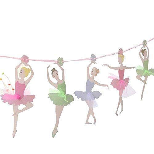 Washranp Decoraciones de banners para bailar, bailar, ballet, niña, banderín colgante para jardín de infancia