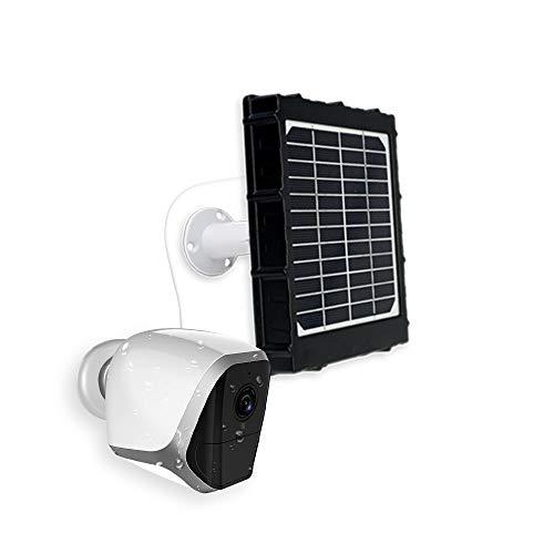 Solar Funk Überwachungskamera kabellose WLAN Funk Kamera mit Akku Solarpanel kabellos Indoor Solarkamera aussen mit Bewegungssensor