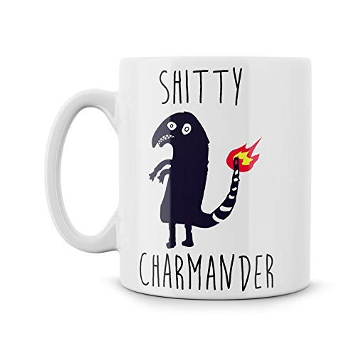 Funny Dank Meme Shitty Charmander Coffee Mug - 11Oz White Gift For Friend Lover Mother Father Husband Girlfriend Boyfriend In Christmas Birthday Mother's Day Father's Day
