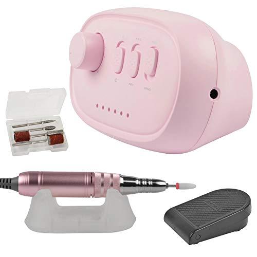 Serious Lamp Máquina de manicura de Taladro de uñas 35000RPM Removedor de uñas eléctrico Archivo de uñas Multifuncional para Accesorios de máquina de Pulido,Rosado