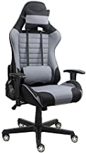 Racoor Video Gaming Chair, Black and Grey - H 132 cm x W 67 cm x D 51 cm