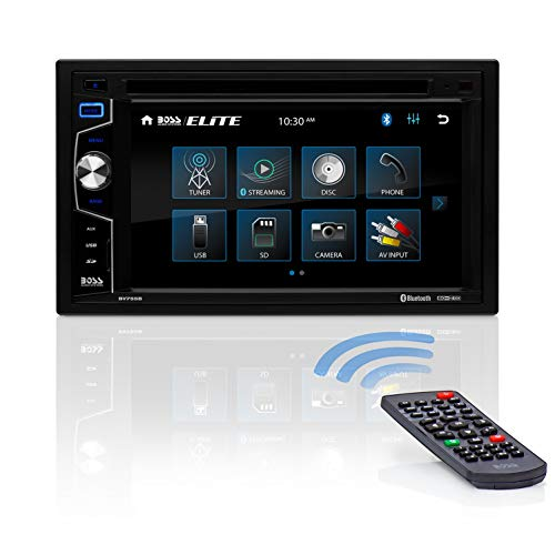 BOSS Audio Systems Elite BV755B Car DVD Player - Double Din, Bluetooth Audio and Calling, 6.2 Inch LCD Touchscreen, MP3 Player, CD, DVD, USB, SD, Auxiliary Input, AM FM Radio Receiver