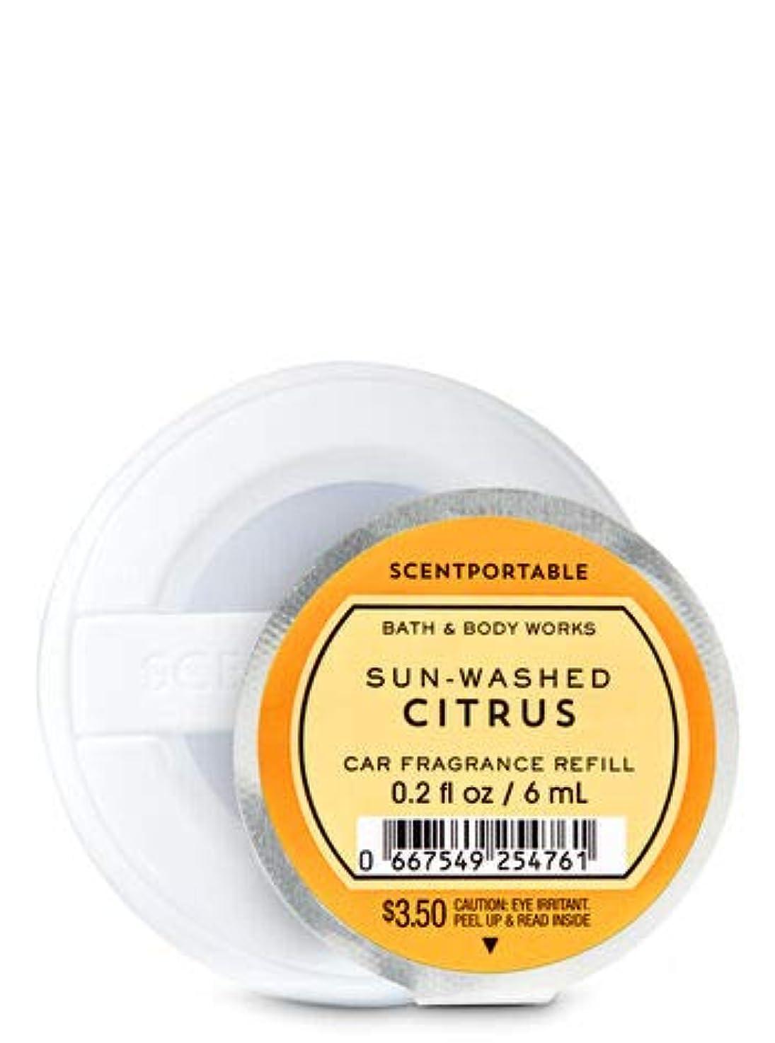 可能性倍増モディッシュ【Bath&Body Works/バス&ボディワークス】 クリップ式芳香剤 セントポータブル詰替えリフィル サンウォッシュドシトラス Scentportable Fragrance Refill Sun-Washed Citrus [並行輸入品]