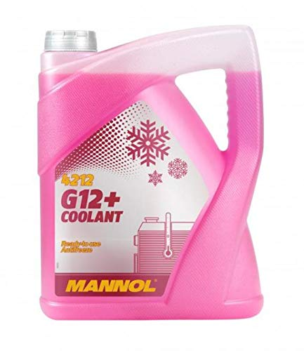 MANNOL 5L Coolant Antifreeze G12+ RED Ready Mixed -30°C / +125 German Hi Spec