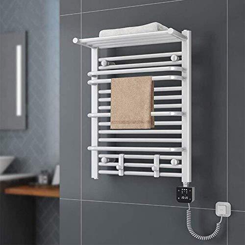 KQBAM Elektrischer Handtuchtrockner, Edelstahl 304 des Intelligenten Thermostats Elektrischer Fest Verdrahteter Wärmender Handtuchhalter