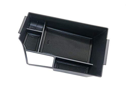 Salusy Center Console Armrest Storage Box Insert Organizer Tray Compatible for Infiniti QX50 SUV 2019