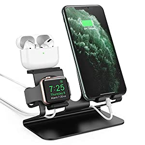 Ahastyle 3 In 1 Aluminum Charging Station For Apple Watch Charger Stand Dock For Iwatch Series 4321ipadairpods And Iphone Xsx Maxxrx88plus77 Plus 6s 6s Plus