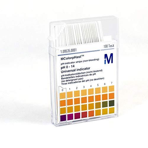 pH-Indikatorstäbchen 0-14, nicht blutend, Merck 1.09535.0001