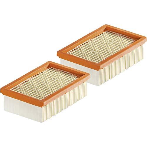 Kärcher Flachfaltenfilter für Mehrzwecksauger, 2er Pack (2 x 1 Filter)