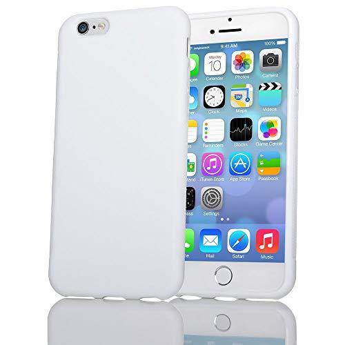NALIA Coque Protection Compatible avec iPhone 6 6S, Housse Silicone Mince Souple Telephone Portable Case, Anti-Derapante Cover Premium Incassable Ultra-Fine Resistante Bumper Slim Etui - Blanc