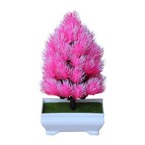 DGHJK Ramo de simulación Planta Artificial 1pc Pino en Maceta Bonsai Etapa Jardín Boda Familia Fiesta Decoración Polvo de Flor Falsa