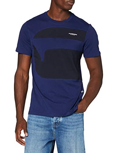 G-STAR RAW Mens One Cut and Sewn Graphic T-Shirt, Imperial Blue 336-1305, XX-Large